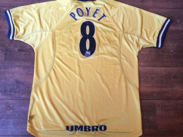 1998 2000 Chelsea Poyet Away Football Shirt Adults XL Top